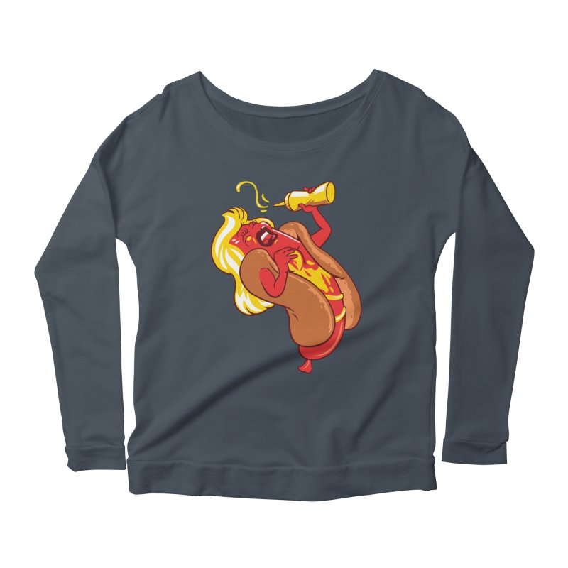 HOT DOG! Women's Scoop Neck Longsleeve T-Shirt by ellingson's Artist Shop