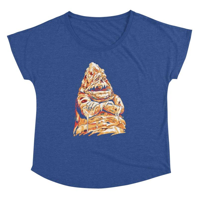 Pizza The Hutt Women's Dolman Scoop Neck by ellingson's Artist Shop