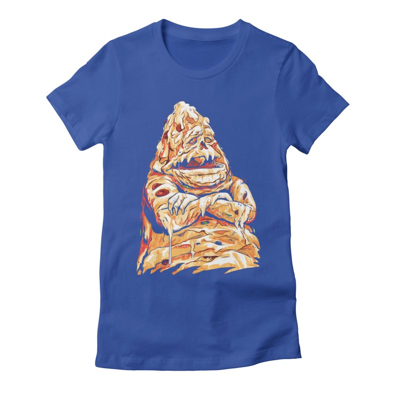 Pizza The Hutt Women's Fitted T-Shirt by ellingson's Artist Shop