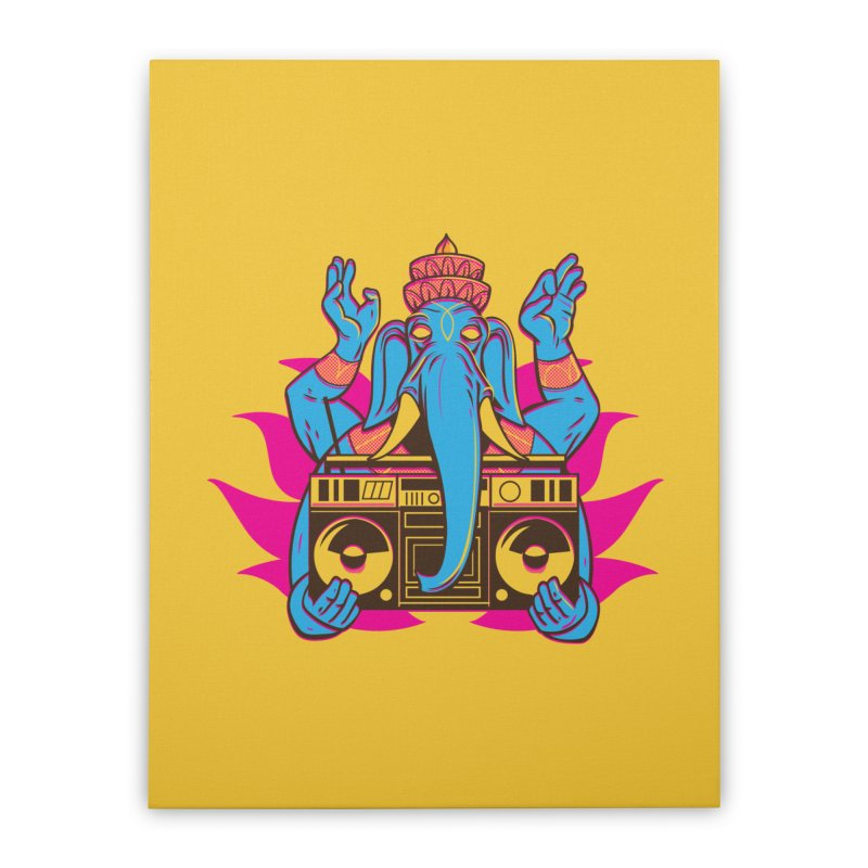 Ganesh Home Stretched Canvas by ellingson's Artist Shop