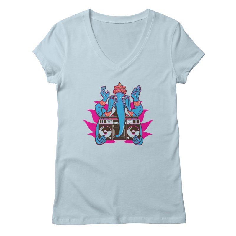 Ganesh Women's Regular V-Neck by ellingson's Artist Shop
