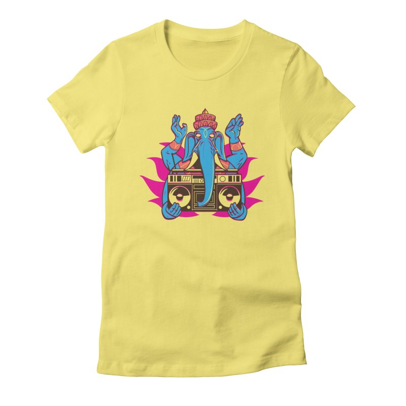 Ganesh Women's Fitted T-Shirt by ellingson's Artist Shop