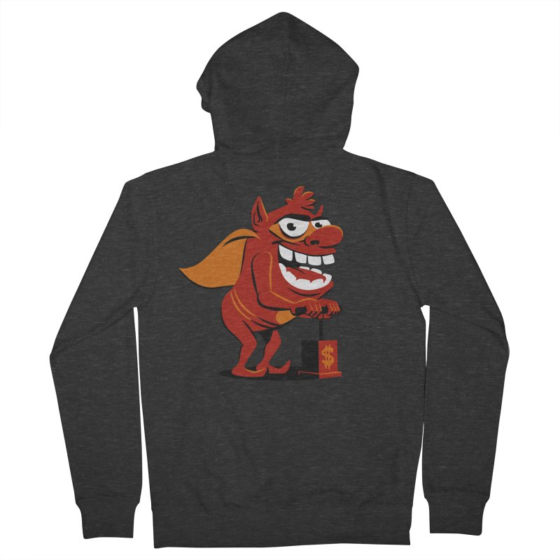 Whammy 1 Men's French Terry Zip-Up Hoody by ellingson's Artist Shop