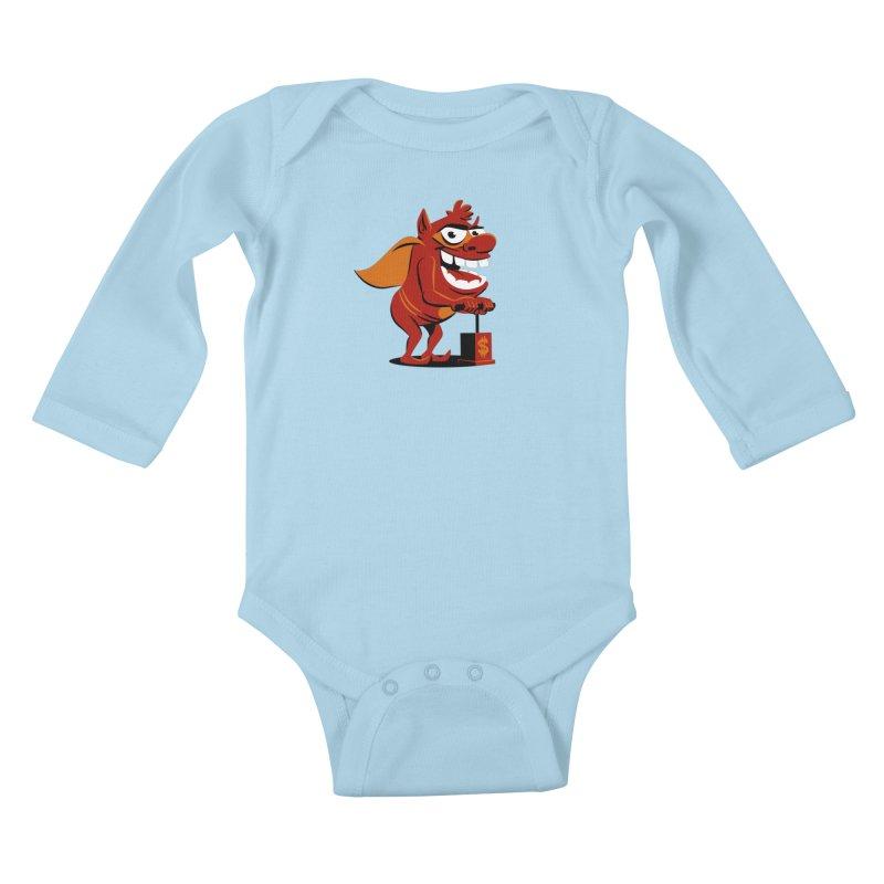 Whammy 1 Kids Baby Longsleeve Bodysuit by ellingson's Artist Shop
