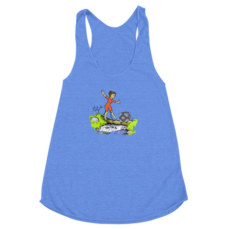 There's Testing Everywhere! Women's Racerback Triblend Tank by Ellipsis