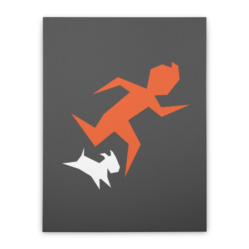 Sharp Reporter Home Stretched Canvas by Ellipsis