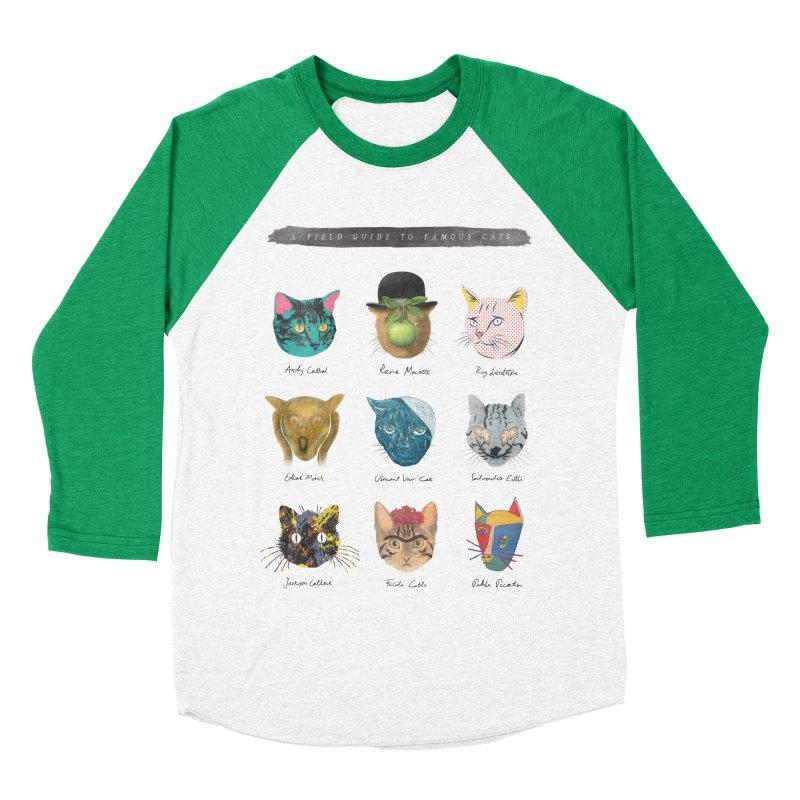 Art & Meow Men's Baseball Triblend T-Shirt by Elly Liyana