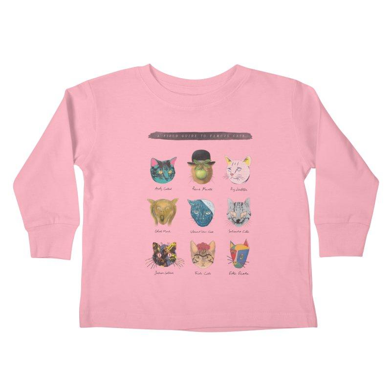 Art & Meow Kids Toddler Longsleeve T-Shirt by Elly Liyana