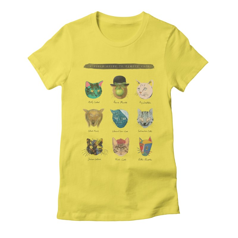 Art & Meow Women's Fitted T-Shirt by Elly Liyana