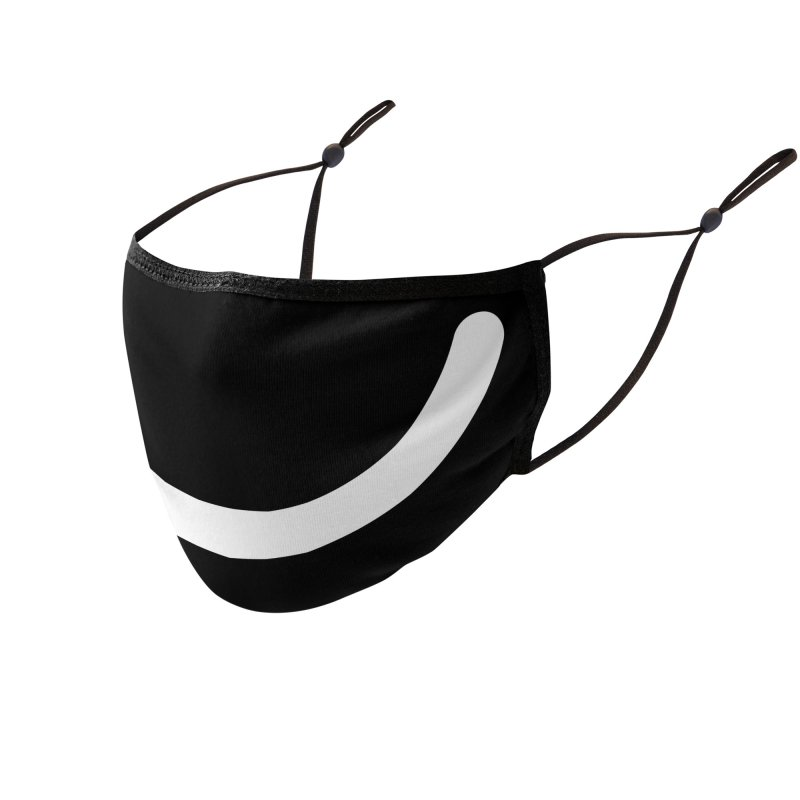 Black Ello Smile Accessories Face Mask by Ello x Threadless
