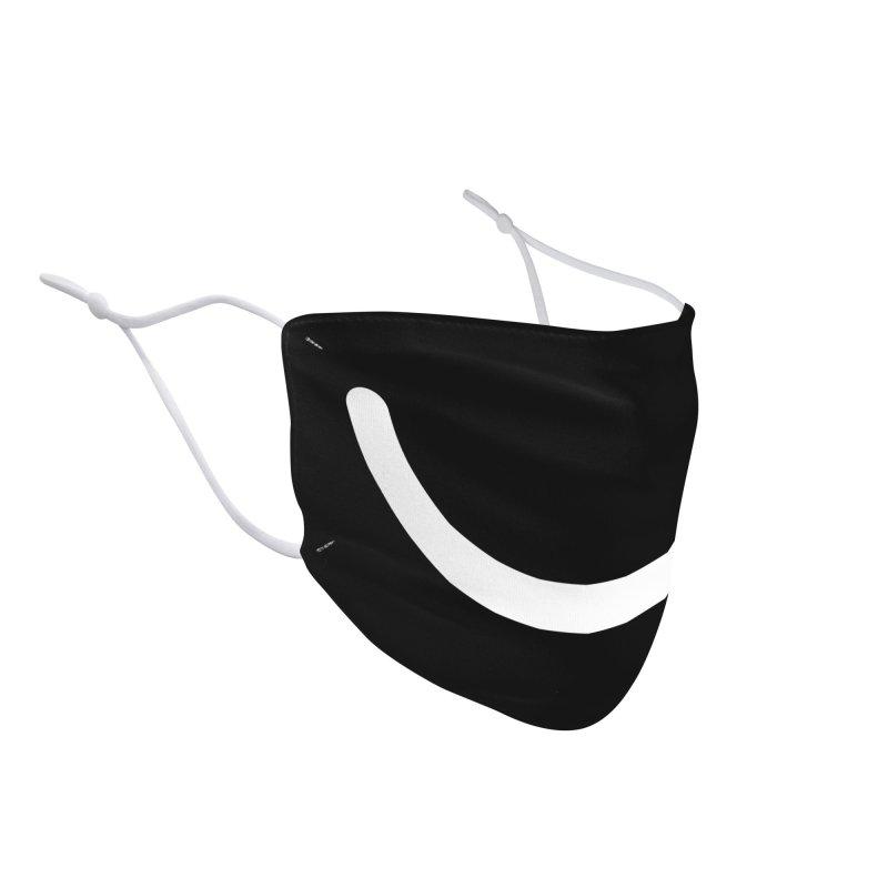 Black Ello Smile Accessories Face Mask by Ello x Threadless