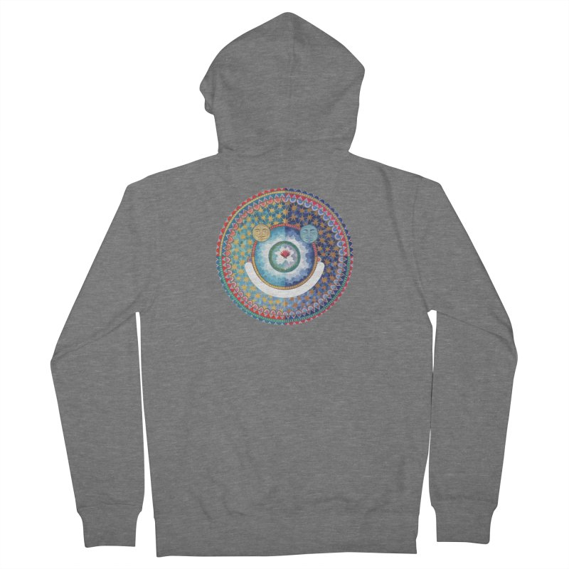 In the Center Men's Zip-Up Hoody by Ello x Threadless