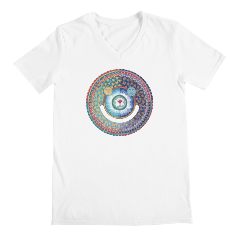 In the Center Men's V-Neck by Ello x Threadless