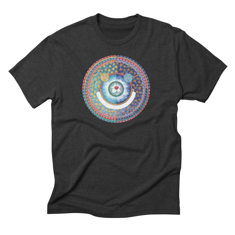 In the Center in Men's Triblend T-shirt Heather Onyx by Ello x Threadless