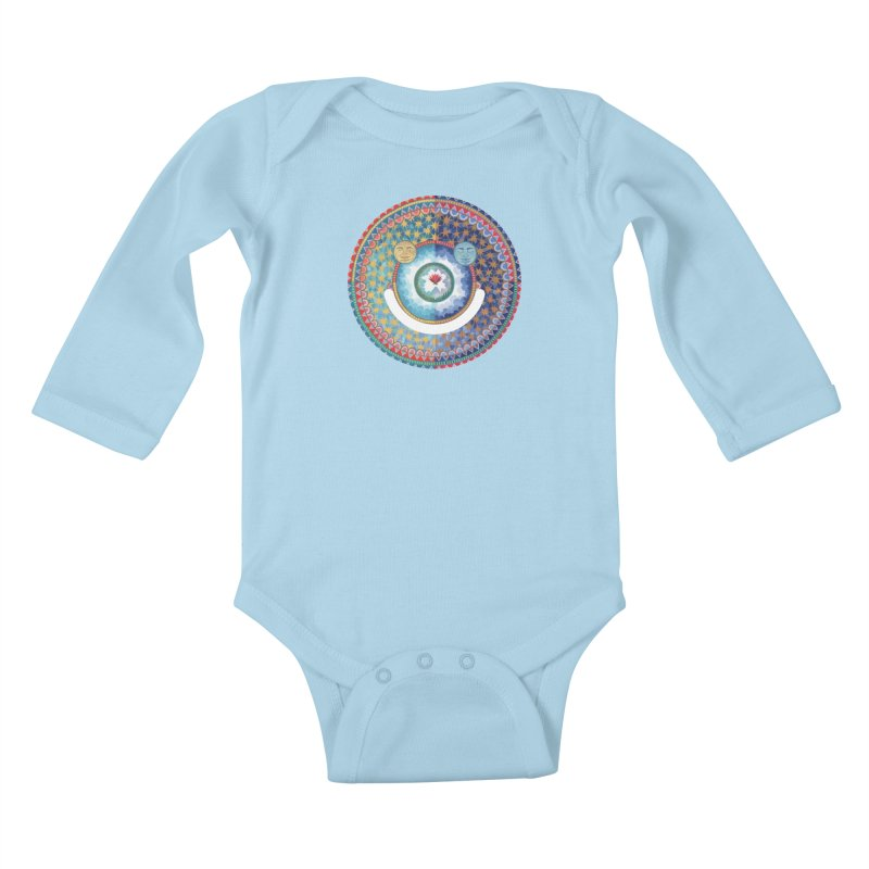 In the Center Kids Baby Longsleeve Bodysuit by Ello x Threadless