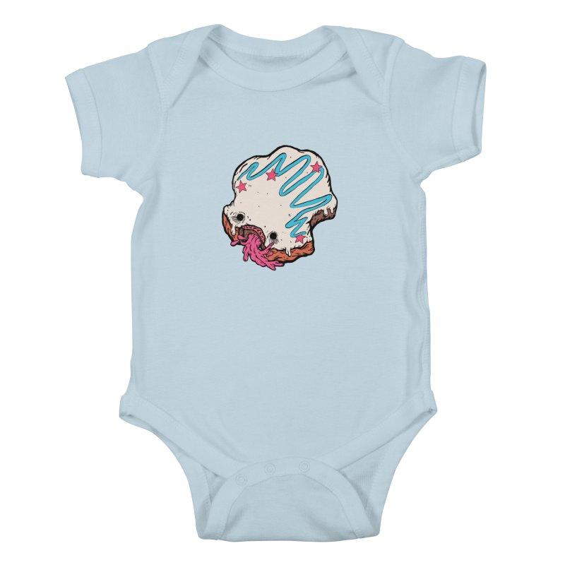 Pukin' Donut Kids Baby Bodysuit by ellooelloo