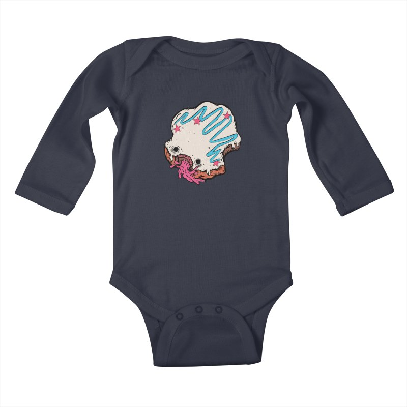 Pukin' Donut Kids Baby Longsleeve Bodysuit by ellooelloo