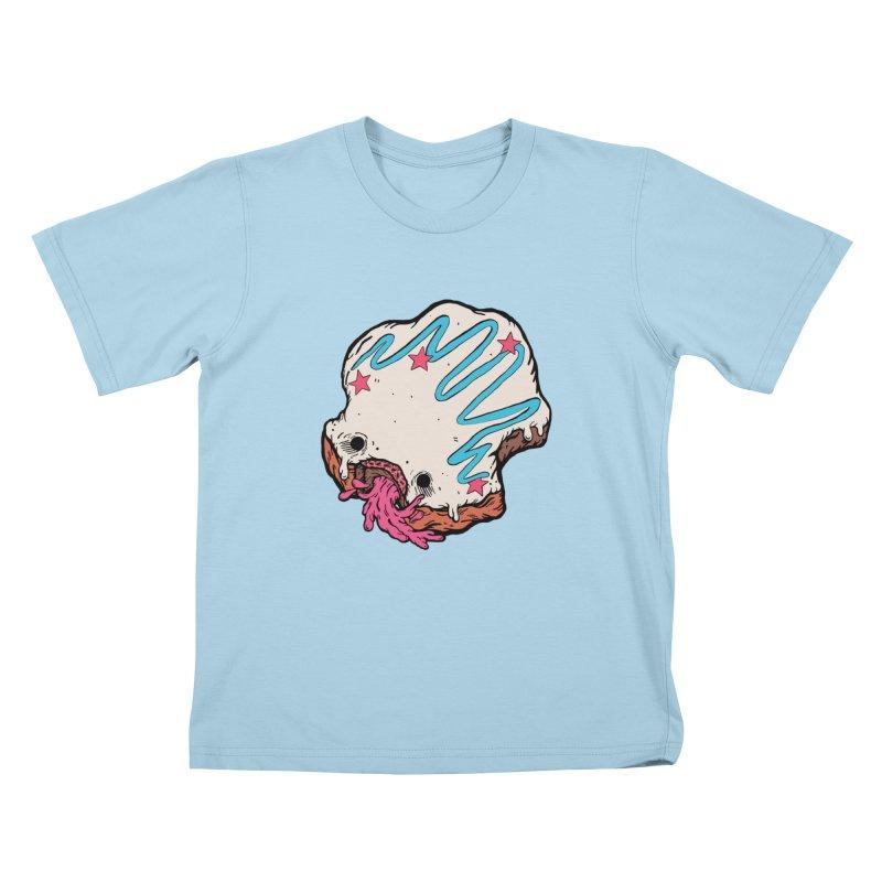 Pukin' Donut Kids T-Shirt by ellooelloo