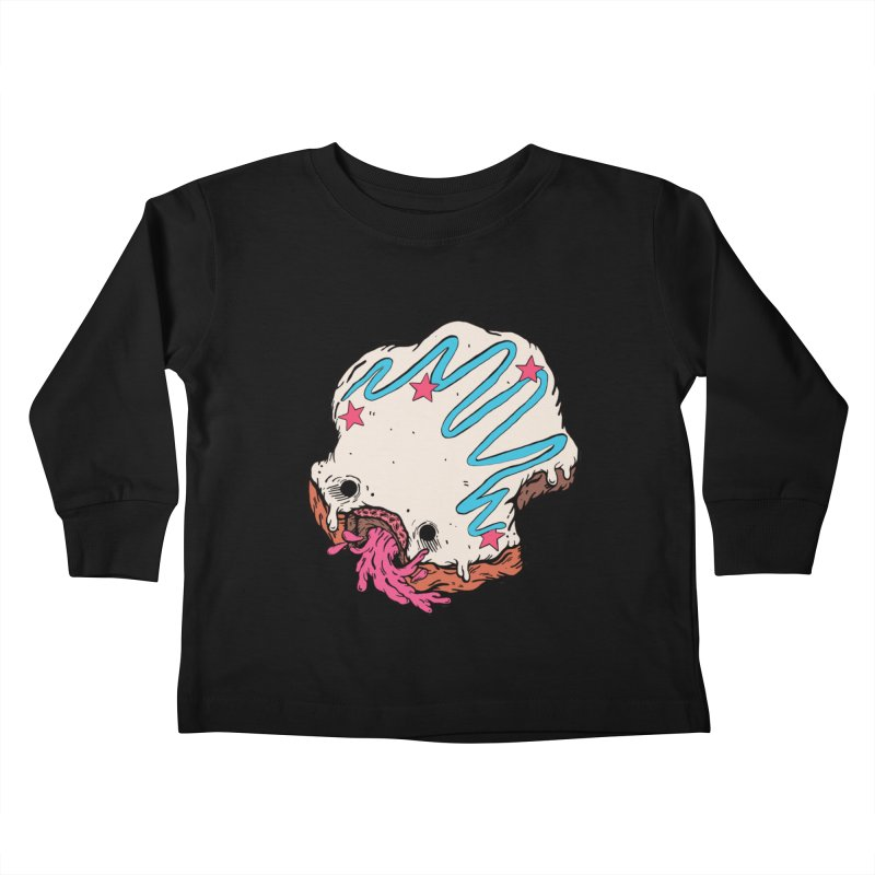 Pukin' Donut Kids Toddler Longsleeve T-Shirt by ellooelloo