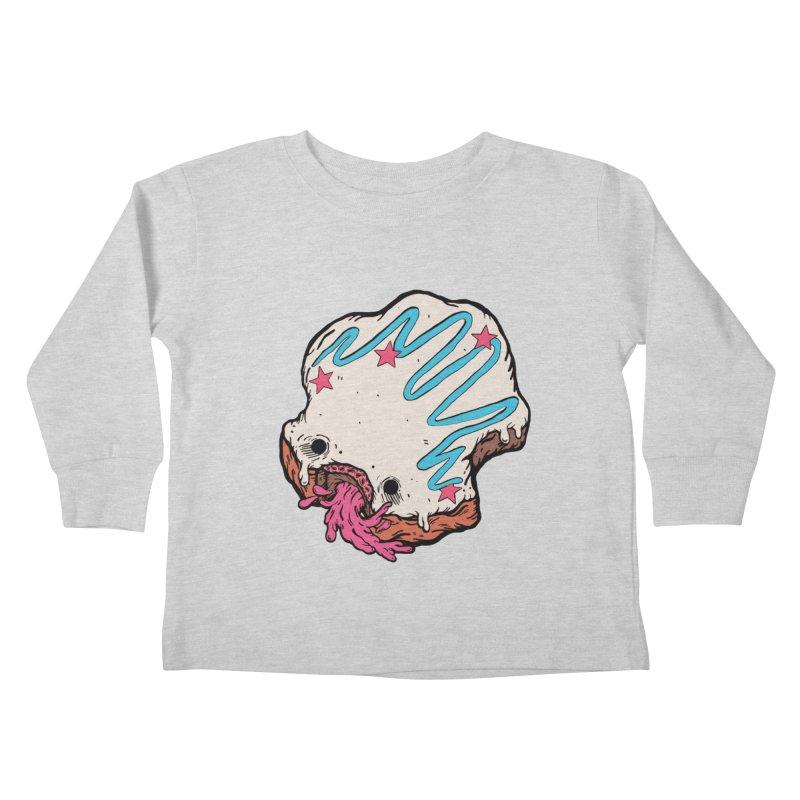 Pukin' Donut Kids Toddler Longsleeve T-Shirt by ellooelloo