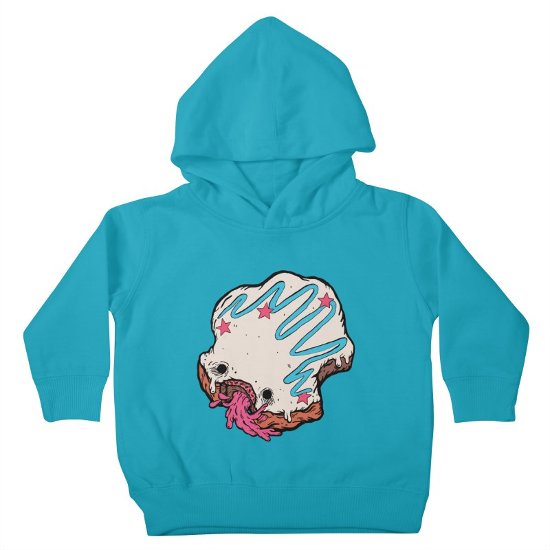 Pukin' Donut Kids Toddler Pullover Hoody by ellooelloo