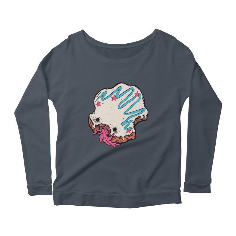 Pukin' Donut Women's Scoop Neck Longsleeve T-Shirt by ellooelloo