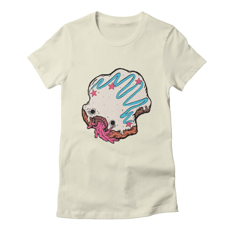 Pukin' Donut Women's Fitted T-Shirt by ellooelloo