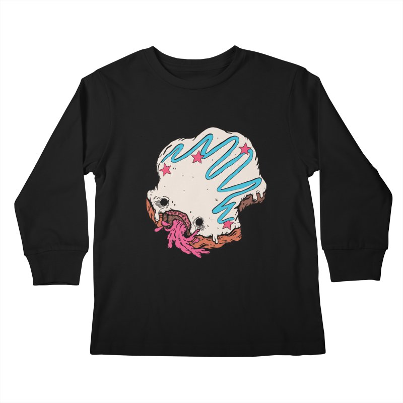 Pukin' Donut Kids Longsleeve T-Shirt by ellooelloo