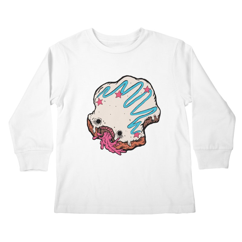 Pukin' Donut Kids Longsleeve T-Shirt by ellooelloo