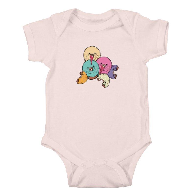 Donut Cluster Kids Baby Bodysuit by ellooelloo
