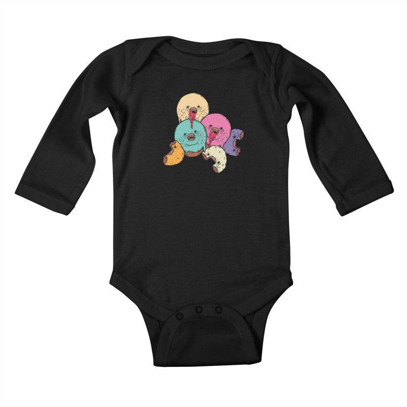 Donut Cluster Kids Baby Longsleeve Bodysuit by ellooelloo