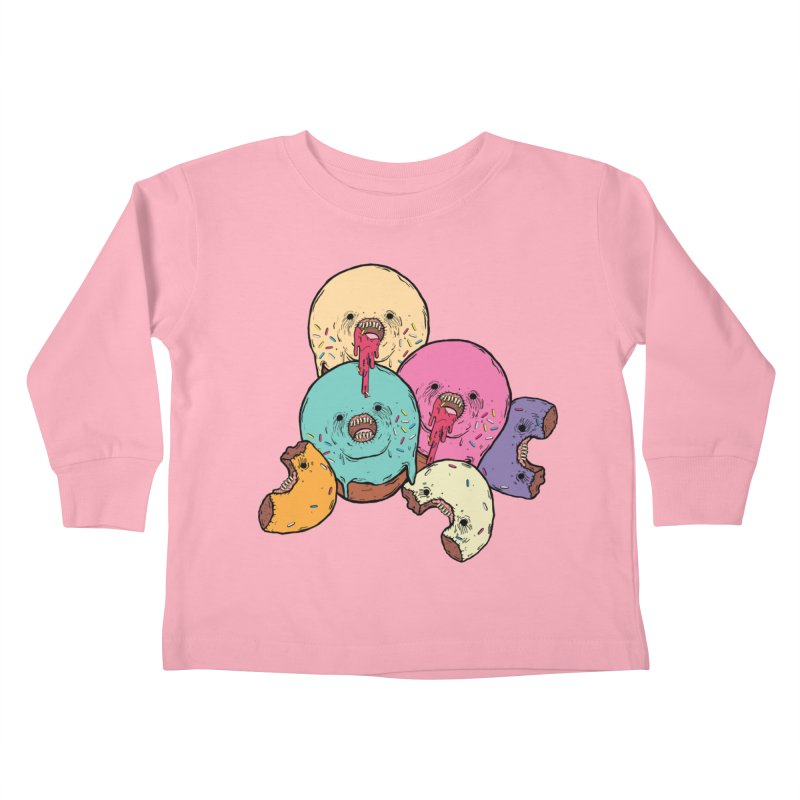 Donut Cluster Kids Toddler Longsleeve T-Shirt by ellooelloo