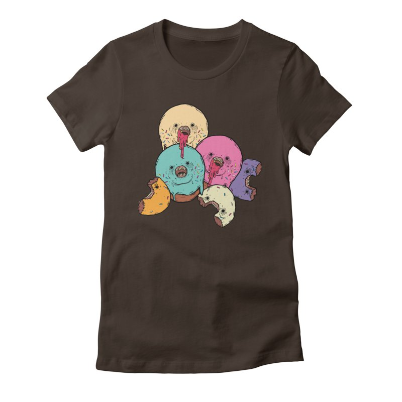 Donut Cluster Women's Fitted T-Shirt by ellooelloo