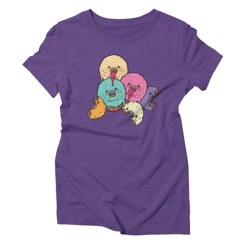 Donut Cluster Women's Triblend T-Shirt by ellooelloo