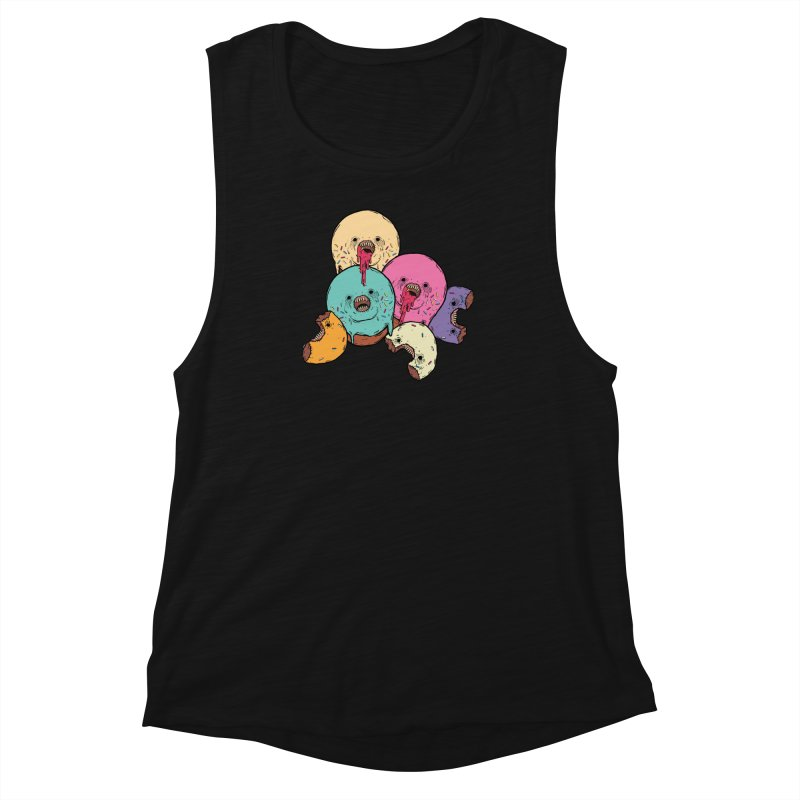 Donut Cluster Women's Muscle Tank by ellooelloo