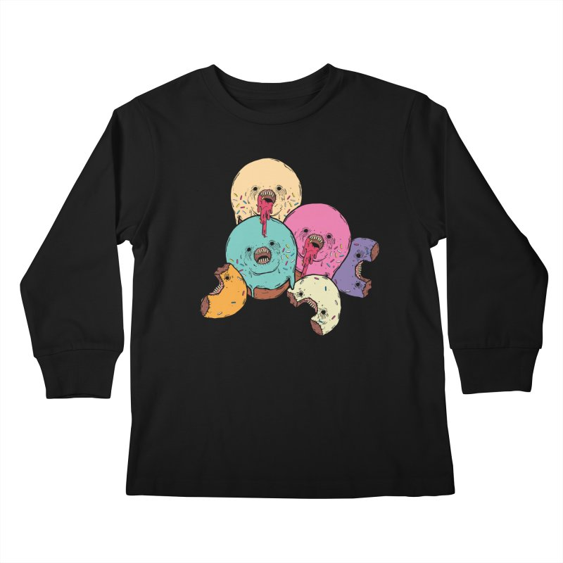 Donut Cluster Kids Longsleeve T-Shirt by ellooelloo