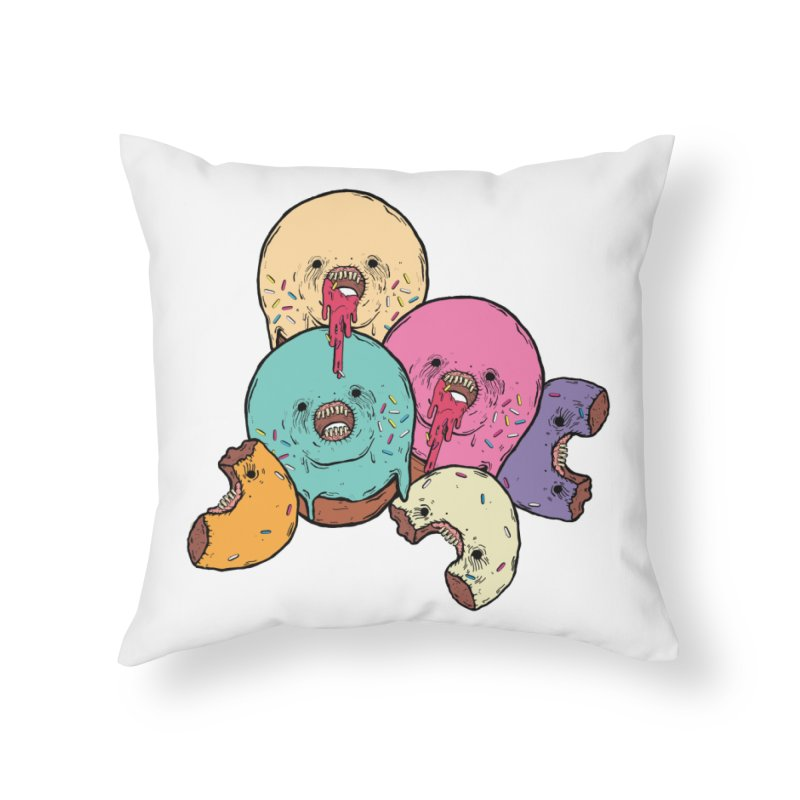 Donut Cluster Home Throw Pillow by ellooelloo