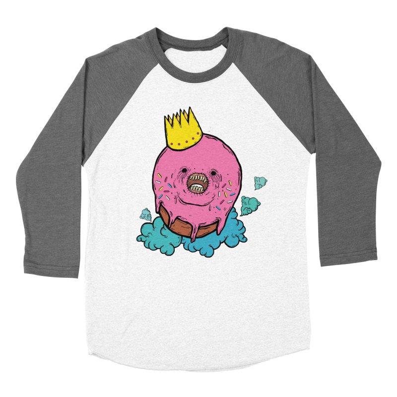 Donut King Men's Baseball Triblend Longsleeve T-Shirt by ellooelloo