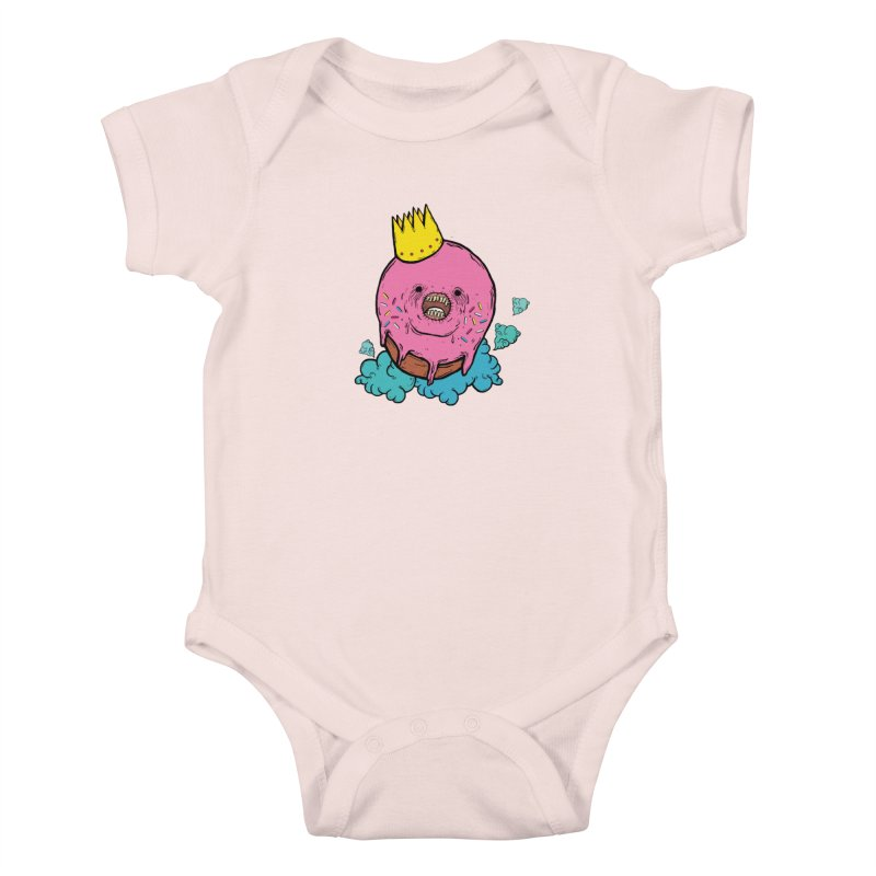 Donut King Kids Baby Bodysuit by ellooelloo