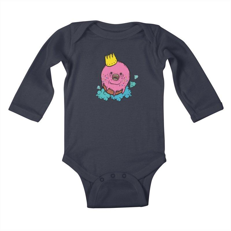 Donut King Kids Baby Longsleeve Bodysuit by ellooelloo