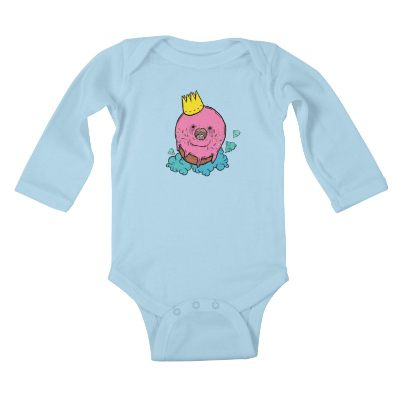 Donut King Kids Baby Longsleeve Bodysuit by ellooelloo