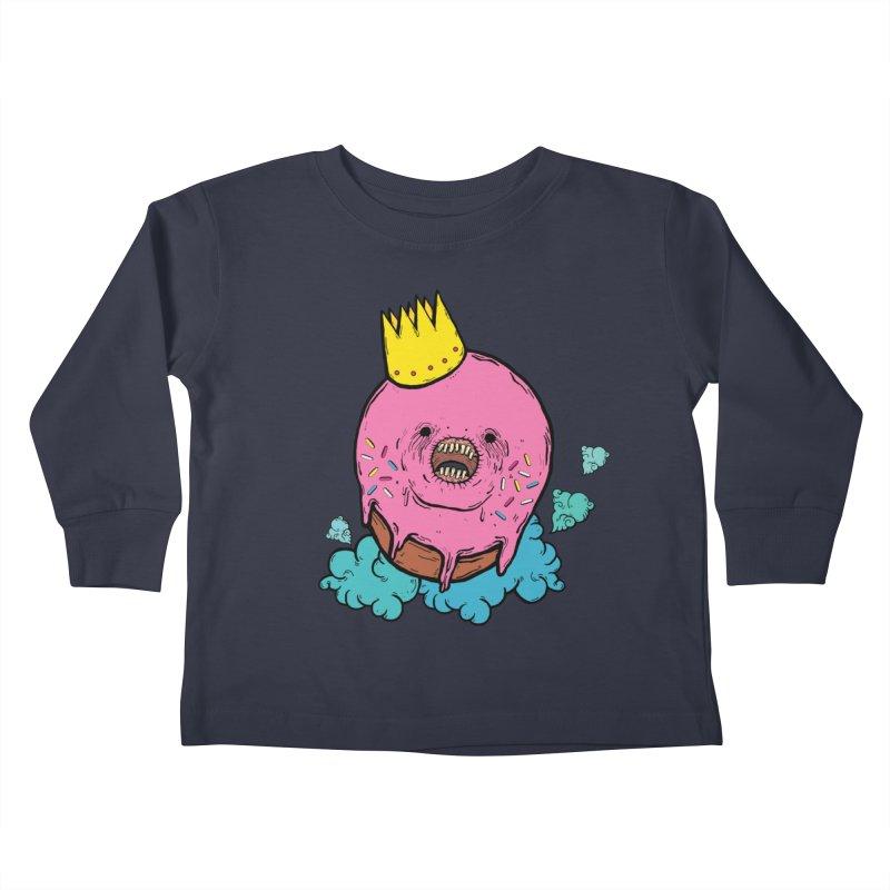 Donut King Kids Toddler Longsleeve T-Shirt by ellooelloo