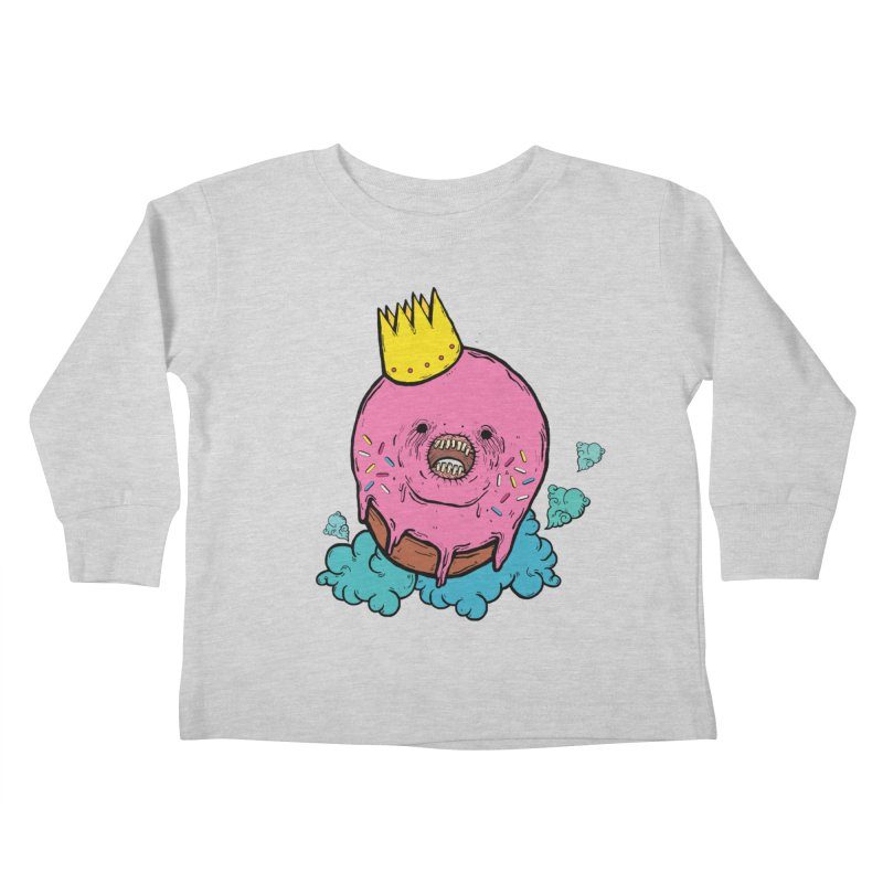Donut King Kids Toddler Longsleeve T-Shirt by ellooelloo
