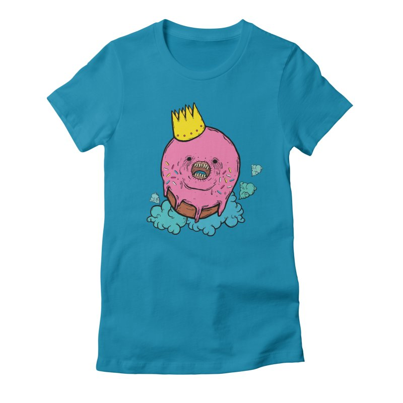 Donut King Women's Fitted T-Shirt by ellooelloo