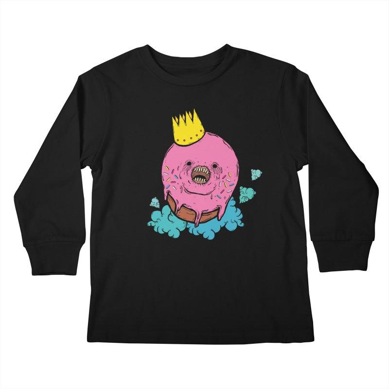 Donut King Kids Longsleeve T-Shirt by ellooelloo