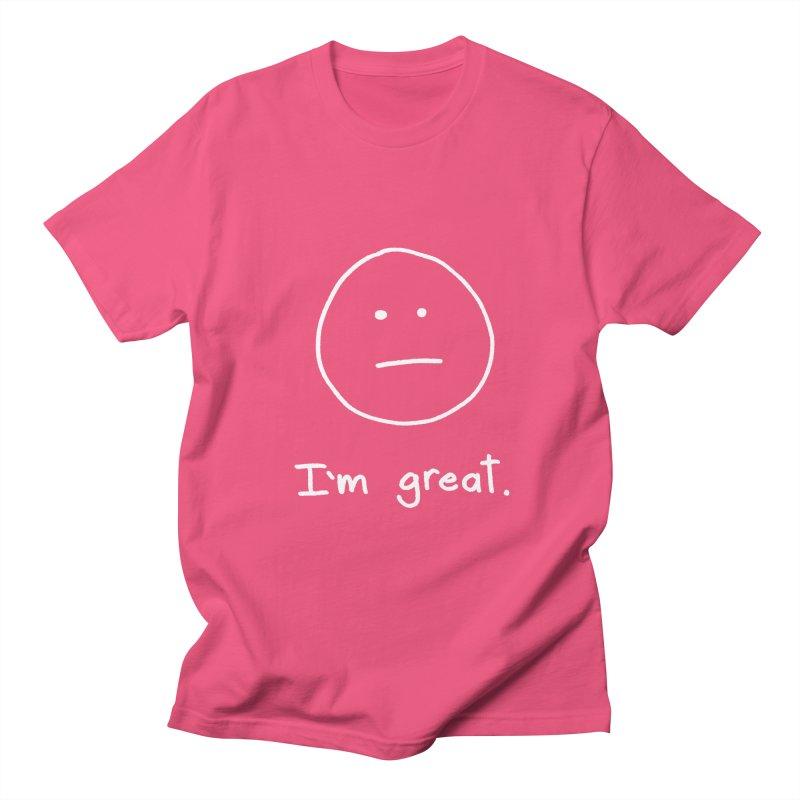 I'm great. Men's Regular T-Shirt by Ryan's Shop