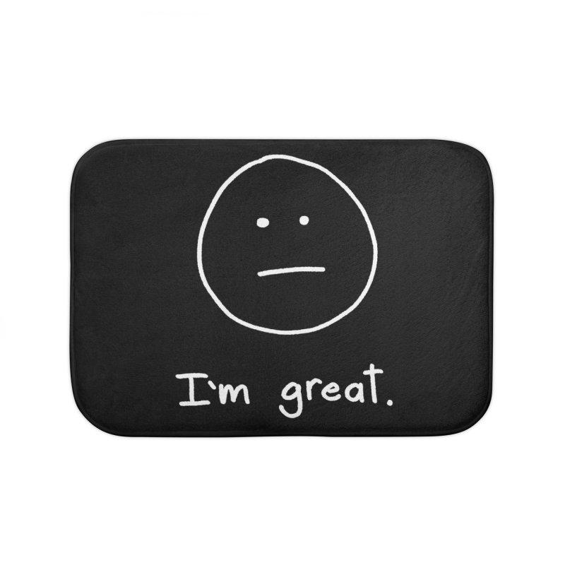 I'm great. Home Bath Mat by Ryan's Shop