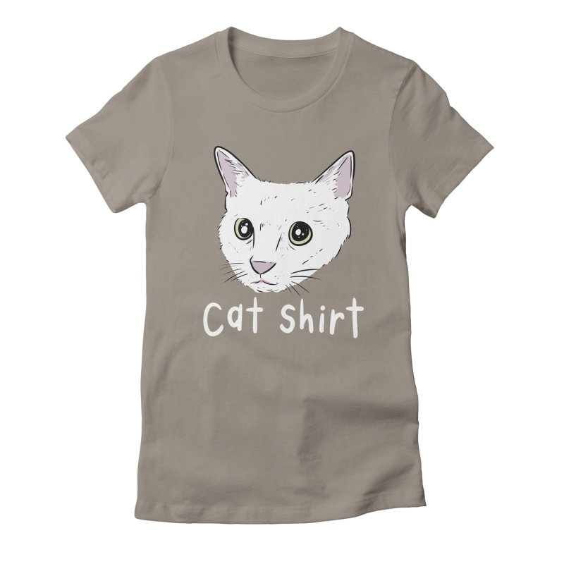 Cat Shirt Women's Fitted T-Shirt by Ryan's Shop