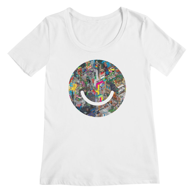 HelloSFello - eBoy Women's Regular Scoop Neck by Ello x Threadless
