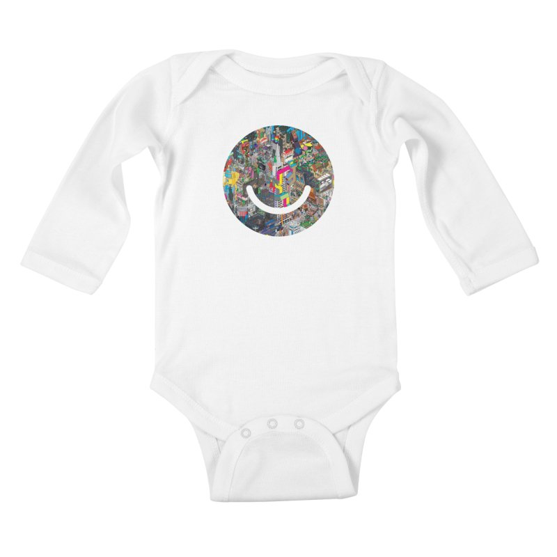 HelloSFello - eBoy Kids Baby Longsleeve Bodysuit by Ello x Threadless